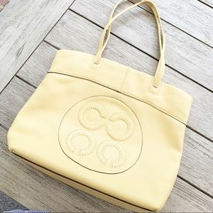 "COACH ""Julia"" Beautiful Yellow Leather Tote"